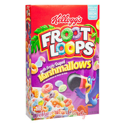 ANGEBOT: 1x 357g Froot Loops Marshmallows USA MHD 31.8.2016 (19,58€/kg)