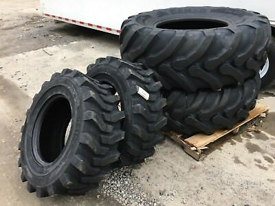 NEW Camso 532 19.5L-24 & 2 12-16.5 Backhoe Tires R4 - 19.5LX24 - 4 tire combo