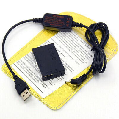 LP-E12 power charger cable ACK-E12+DR-E12 dummy battery for Canon EOS M M50 M10
