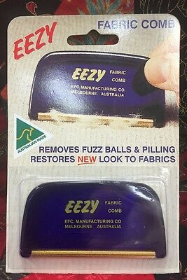 Eezy Fabric Comb - Removes Fuzzy Lint from Fabrics - Knit Brush Jumper Coat Felt