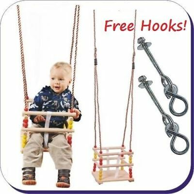 Wooden Bucket Baby Swing Seat for Toddlers KIDS CLIMBING FRAME FREE P&P!
