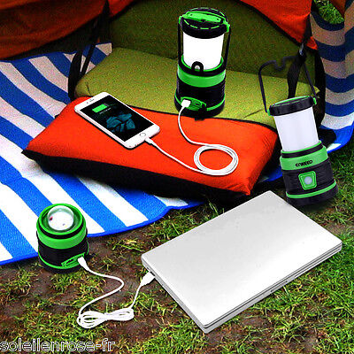 Bright LED 5 Modes Camping Tent Light Lantern Hiking Lamp Torch USB Rechargeable