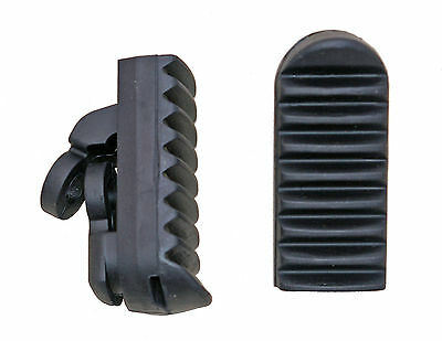 Honda XRV750 Africa Twin footrest rubbers front - pair (1992-2000) not genuine