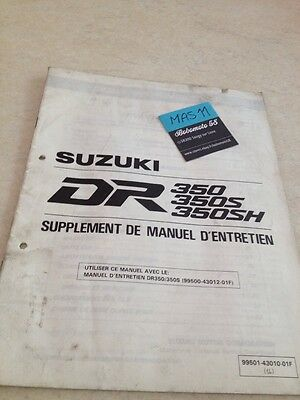 Suzuki DR350 S SH DR 350 supplement revue moto technique manuel atelier