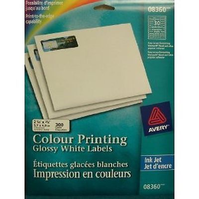 2 1/4 x 3/4 AVERY 300 color Printing Glossy labels