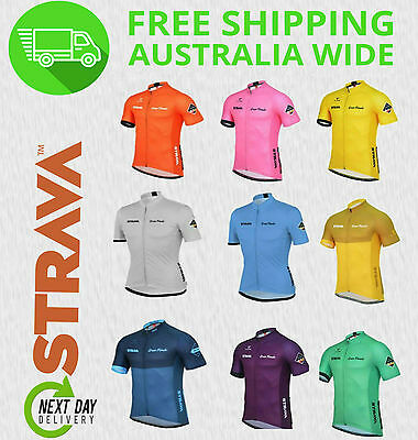 STRAVA CYCLING JERSEY [mens bike jersey bib short sleeve sports knickers team]