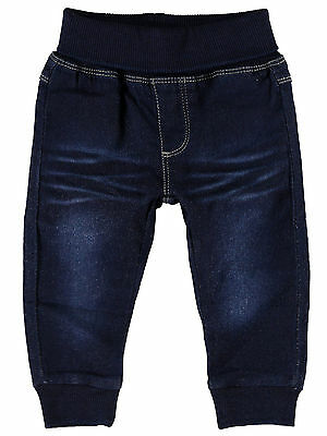 NAME IT süße Sweat Denim Baby Jeans Rur dunkelblau Größe 50 bis 74