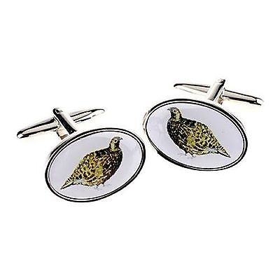 Grouse Game Bird Cufflinks Stainless Steel Gift Mens Jewellery Boxed Shooting