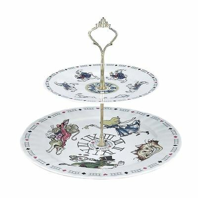 Official Cardew Alice in Wonderland 2 Tiered Caked Stand Tea Party Accessories