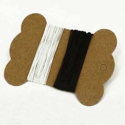 10M = 5m Black & 5m White Card Craft Gift Cord String Christmas gift tag thread