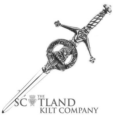 Mens Scottish Made MacNeil Clan Crested Boxed Silver Kilt Pin by Art Pewter