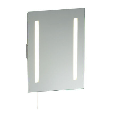 Saxby Glimpse 15W Modern Fluorescent HF IP44 Bathroom Mirror with Shaver Socket