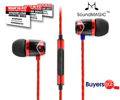 SoundMAGIC E10C In-Ear Smartphone Mobile Headphones with MICROPHONE Black Red