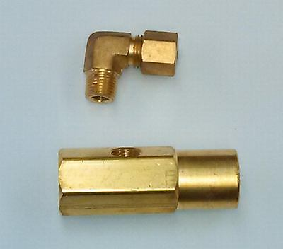 17147 Delavan Nozzle Adapter With Oil Inlet Elbow Waste Oil Heater