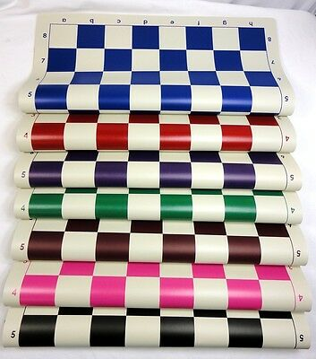 """Vinyl Roll Up Chess Boards - 10 Pack - Standard Tournament Size - 2 1/4"""" Squares"""