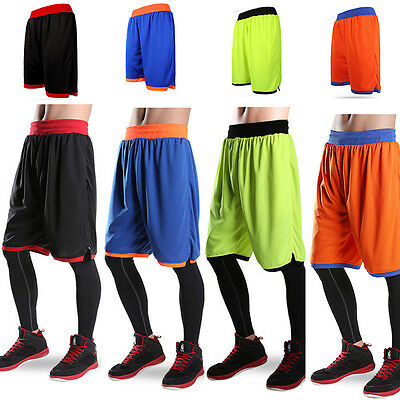 New Mens Sports Casual Pants Basketball Running Gym Pockets Shorts Fitness