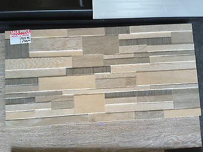 Stacked stone look porcelain tiles 600x300