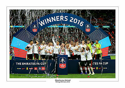 2016 Fa Cup  Manchester United Trophy A4 Print Photo Man Utd