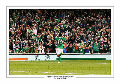 Last Ever Game Career Stats Robbie Keane Republic Of Ireland A4 Print Photo
