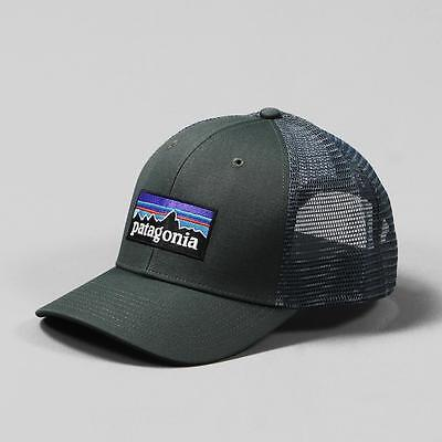 Patagonia Men's One Size P6 Trucker Cap Hat Forge Grey Snapback Adjustable