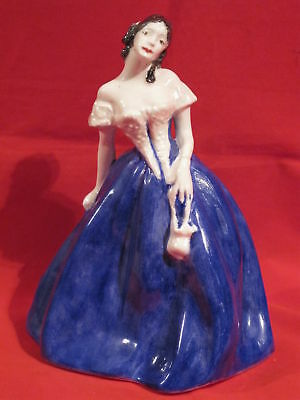 Lady In Blue & White Dress By D. V. Dodds 1999