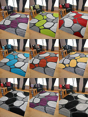 Pebbles Thick Quality Modern Carved Rugs Runner Small Extra Large Soft Mat Cheap
