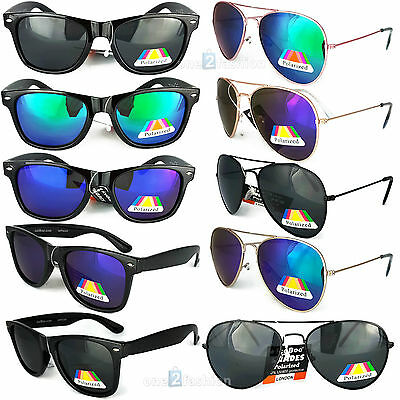 POLARIZED Sunglasses Mens Womens Ladies new UV400 Vintage Retro Classic Style