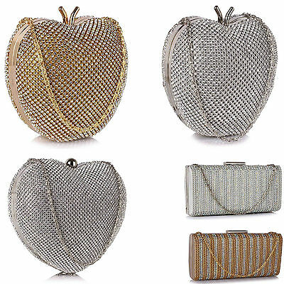LeahWard Women's Sparkly Crystal Diamante Clutch Bags Great Evening Bag Party 33
