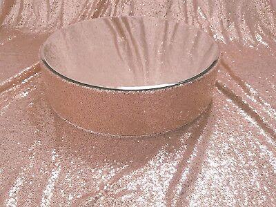 "Rose Gold  Sequin wedding cake stand -  round or square  size 8"" - 20"""