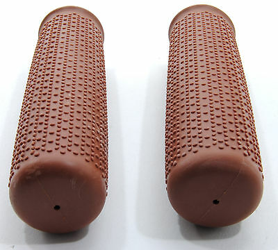 Brown Cruiser Bike Bicycle Handlebar Bar Grips Vintage