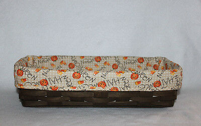 Custom Happy Halloween Fabric- LINER ONLY - for Longaberger Bread Basket
