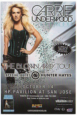 Very Nice And Mint Carrie Underwood San Jose, Ca Concert Handbill