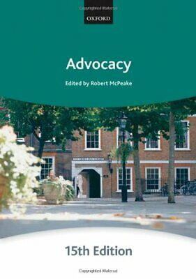 Advocacy (Bar Manuals) by The City Law School Paperback Book The Cheap Fast Free
