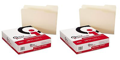 2x100 Office Impressions MANILA FILE FOLDERS Top-Tab1/3Cut Letter | NO SALES TAX