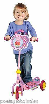 Peppa Pig Scooter Outdoor Wheel Child Wheels Ride Girls Pink Toddler Kids Tyres