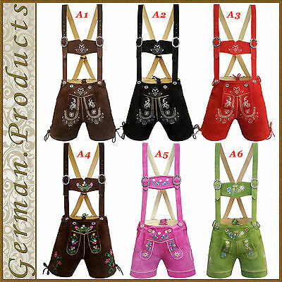 Authentic Ladies Short Lederhosen German Bavarian Trachten Oktoberfest Costume