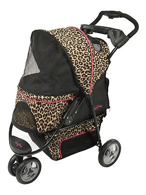 Gen7Pets Promenade Standard Pet Stroller in Black & White