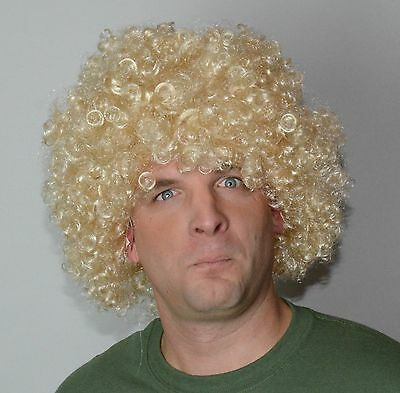 Men's Blonde Curly fancy Dress Wig