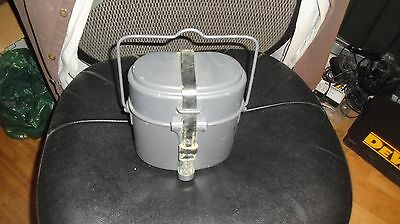 Post WWII 3 piece German Aluminum Mess Kit Excellent Condition PSL 59