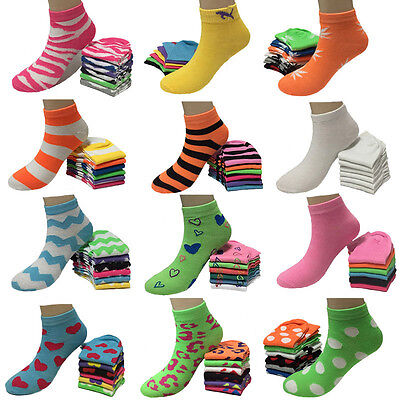 New 6-12 Pairs Womens Multi Style Sports Fashion Casual Low Cut Socks Size 9-11