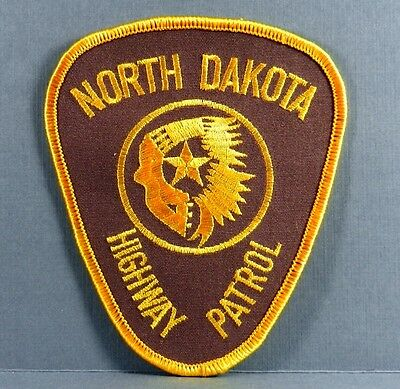 "New 3 3/4"" X 4 1/4"" North Dakota Highway Patrol Police Embroidered Patch"
