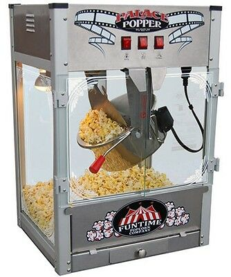 Popcorn Machine 16 oz Funtime Stainless Steel Concession