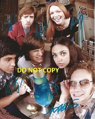 That 70's Show Hand Signed By All 6 Cast With Coa 8X10 Rare Autographed Photo