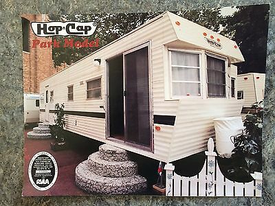 VINTAGE 1980's HOP CAP PARK MODEL TRAVEL TRAILER CAMPER BROCHURE  ADVERTISING