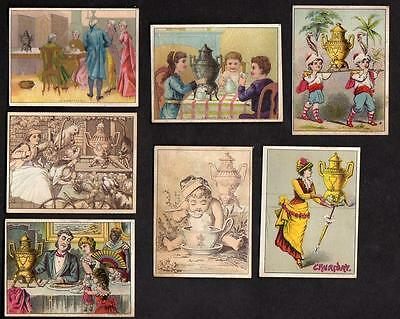 Lot Of 7 Dilworth's Coffee Victorian Trade Cards*black Americana*+++++++++++++++