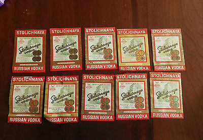 rUSSIAN VODKA LABEL STOLICHNAYA СТОЛИЧНАЯ lot bulk  retro