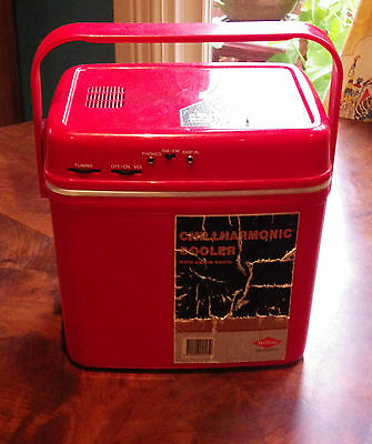 chillhamornic cooler am fm radio willow  rare  eski chiller cooler retro vintage