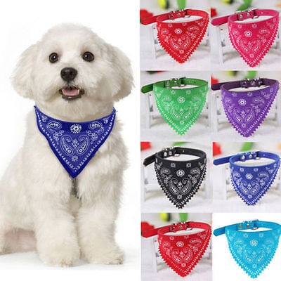Adjustable Pet Dog Puppy Cat Neck Scarf Bandana with Collar Neckerchief