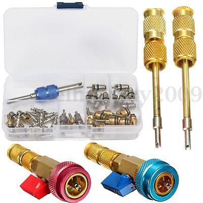 40x Air Conditioning Valve Cores Remover Installer+R12 R134A High Low Pressure