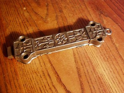 "Antique Cast Iron Victorian Eastlake Pull  8 "" Chain Door Latch"